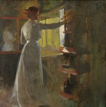 """Image of Carlyle, Florence, """"Girl at Window or Goldenrod"""""""