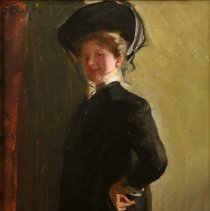 """Image of Carlyle, Florence, """"Self Portrait or Panel Picture of Self"""""""