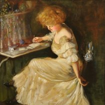 """Image of Carlyle, Florence, """"Maude in her Wedding Dress"""""""
