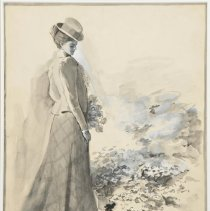 """Image of Carlyle, Florence, """"Fashion Sketch"""""""