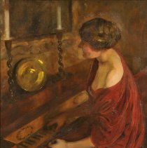 """Image of Carlyle, Florence, """"Girl at Piano"""""""