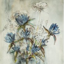 "Image of Crawford, Catherine Betty, ""Gentians and Queen's Anne Lace"""