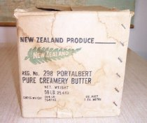 Image of POrt Albert Creamery. Butter Carton