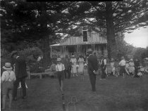 Image of Croquet match at Minniesdale using the croquet set