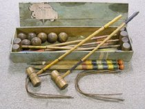 Image of Croquet set bought to NZ from Nottingham by the Brookes family