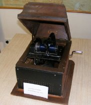 Image of Edison Phonograph with wax spindle