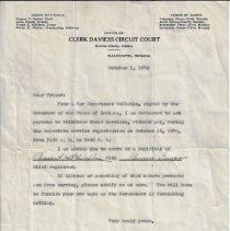 Image of 1940 letter asking for volunteers for selective service registration