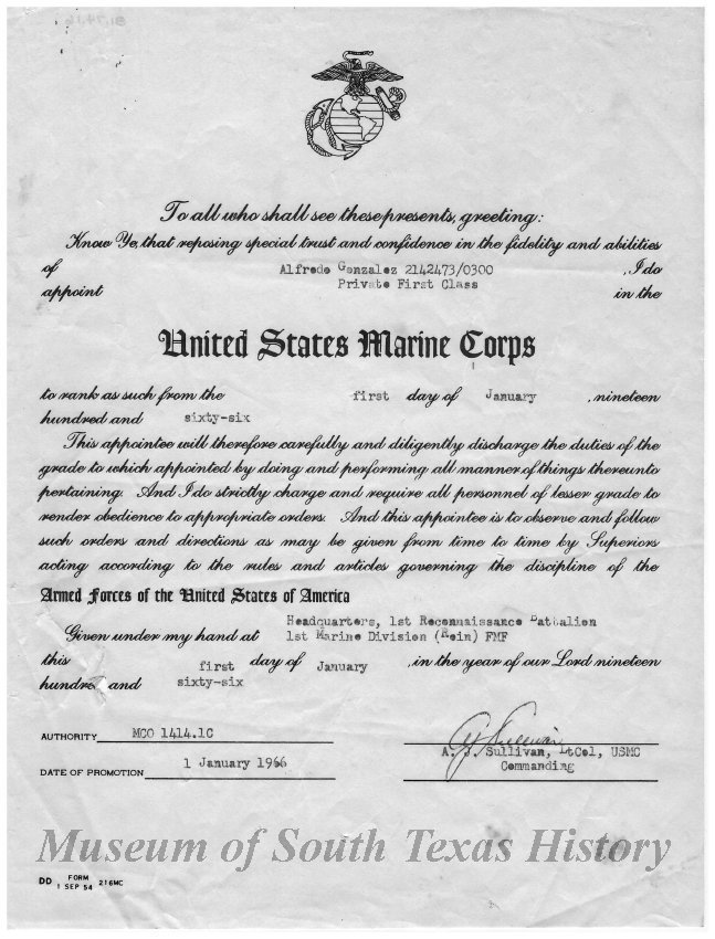 1981074016 Certificate Of Promotion