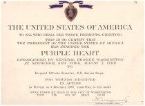 Image of 1981.074.007a-b - Purple Heart Award