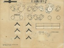 Image of 1981.074.022a - Uniform accessory display card