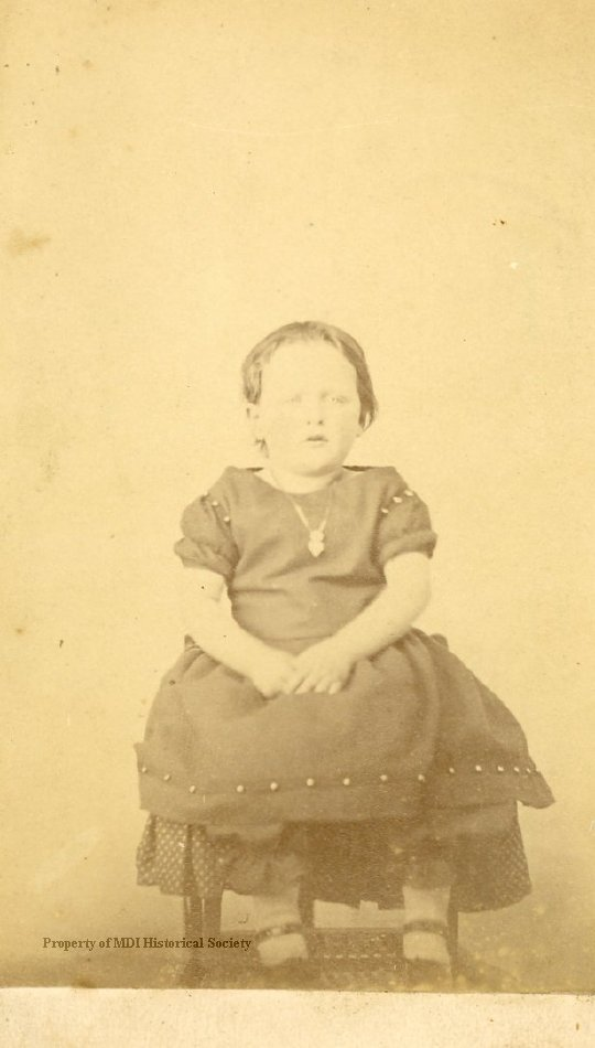 Carrie Mabel Moore as a child