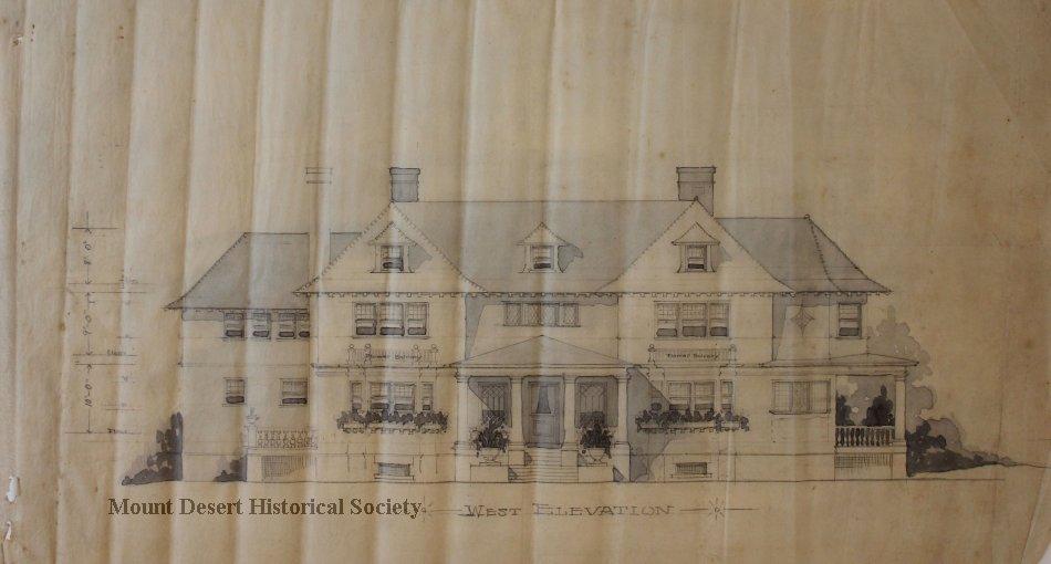 S.W. Bridgham Esq., Bar Harbor, Trace, Linens and Blueprints