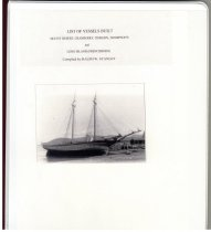 Image of List of Vessels Built: Mount Desert, Cranberry, Tinker's, Thompson's, and Long Island (Frenchboro) - Stanley, Ralph W.