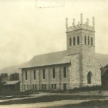 Image of Postcard - Black & White Postcard of the Dorset Church, by Charles Parker