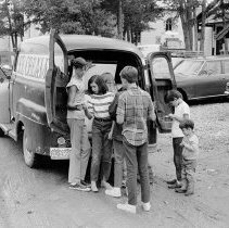 Image of ice cream truck french street 1970