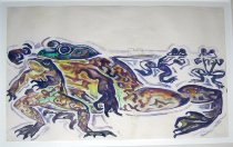 Image of watercolor - Frogs