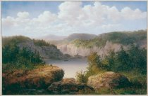 Image of Painting - Untitled (Mountain Scene in Western North Carolina, formerly called Mt.Toxaway From the Lodge At High Hampton, N.C.)