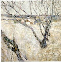 Image of Painting - Orchard In Snow