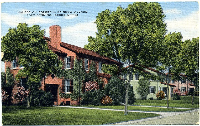 Postcard Houses On Colorful Rainbow Avenue Fort Benning Georgia