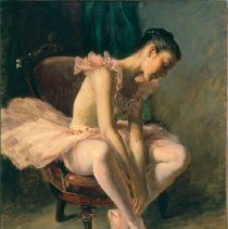 Image of A. Henry Nordhausen, Tying Her Ballet Slipper