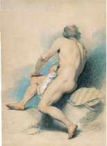 Image of drawing - Male Nude