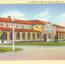 Image of Officers' Club postcard