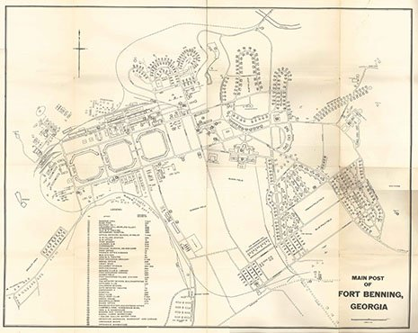 Map Of Georgia Fort Benning.Map Main Post Of Fort Benning Map