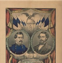 Image of Currier & Ives, Grand National Democratic Banner, 1864