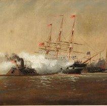 Image of Alexander Charles Stuart, Merrimac Sinking The Cumberland