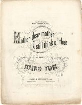 Image of Music, sheet - Mother, Dear, Mother, I Still Think of Thee