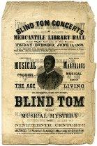 "Image of Program - Program for ""Blind Tom"" Wiggins performance, St. Louis, Missouri"