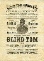 "Image of Program - Program for ""Blind Tom"" Wiggins performance, Springfield, Illinois"