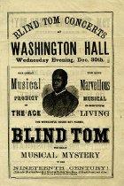 "Image of Program - Program for ""Blind Tom"" Wiggins performance, Brooklyn, New York"