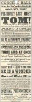 """Image of Poster - Broadside advertising """"Blind Tom"""" Wiggins concert, Philadelphia, PA"""