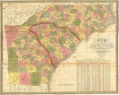 Map Of Georgia And North Carolina.Map Map Of North Carolina South Carolina And Georgia
