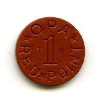 Image of Token, Ration - Office of Price Adminstration World War II ration token