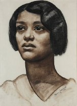 Image of Drawing - Portrait of a Woman