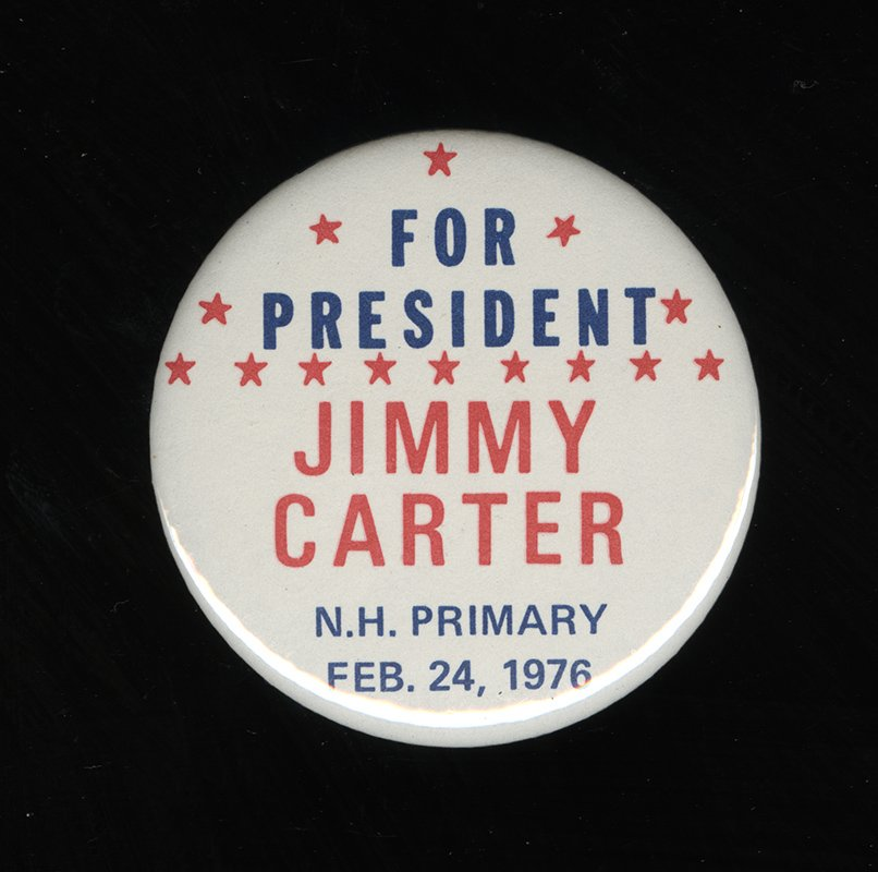 Presidential Pin Back Carter Mondale Campaign Button 1976 Democratic Candidate
