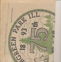 Image of Evergreen Park, Illinois 75th Anniversary 1893-1968 - Newspaper