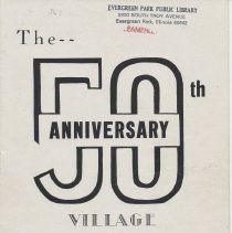 Image of The 50th Anniversary of Evergreen Park, 1943 - Pamphlet