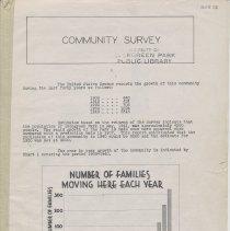 Image of Community Survey - Pamphlet