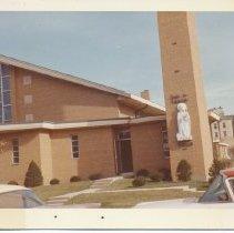 Image of St. Bernadette's Church, 93rd Mozart, 1963 - Print, Photographic