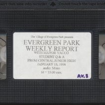 Image of Evergreen Park Weekly Report with Mayor Vacco and CJH students