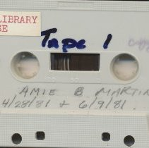 Image of Cassette tape of Amie Martin Interview