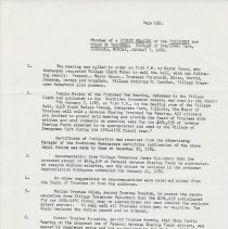 Image of Board of Trustees Minutes, Village of Evergreen Park, IL 1/7/1985 - 12/16/1985 - Minutes