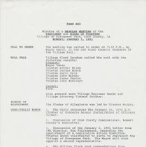 Image of Board of Trustees Minutes, Village of Evergreen Park, IL 1/7/1991 - 12/16/1991 - Minutes