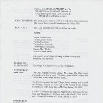 Image of Board of Trustees Minutes, Village of Evergreen Park, IL 1/6/2003 - 12/15/2003 - Minutes
