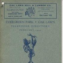 Image of Evergreen Park and Oak Lawn Telephone Directory, February 1940 - Directory, Telephone