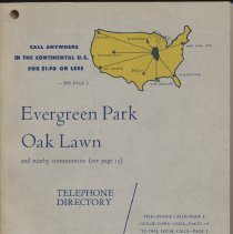 Image of Evergreen Park, Oak Lawn and nearby communities telephone directory, April 1955 - Directory, Telephone