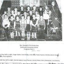 Image of Mrs. Maxwell's First Grade Class Southwest Elementary School 1949-1950 - Photograph